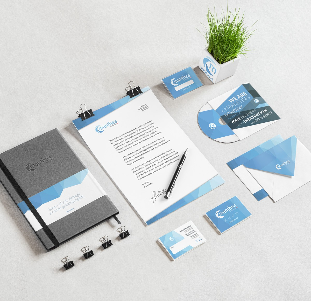 Corporate Identity | Manthea.ch -Lugano